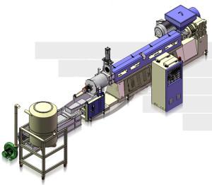Гранулятор предназначен для переработки твердых отходов ПЭНД, ПЭВД, ЛПЭВД, ПП, ПС, АБС-пластика и пленочных отходов.